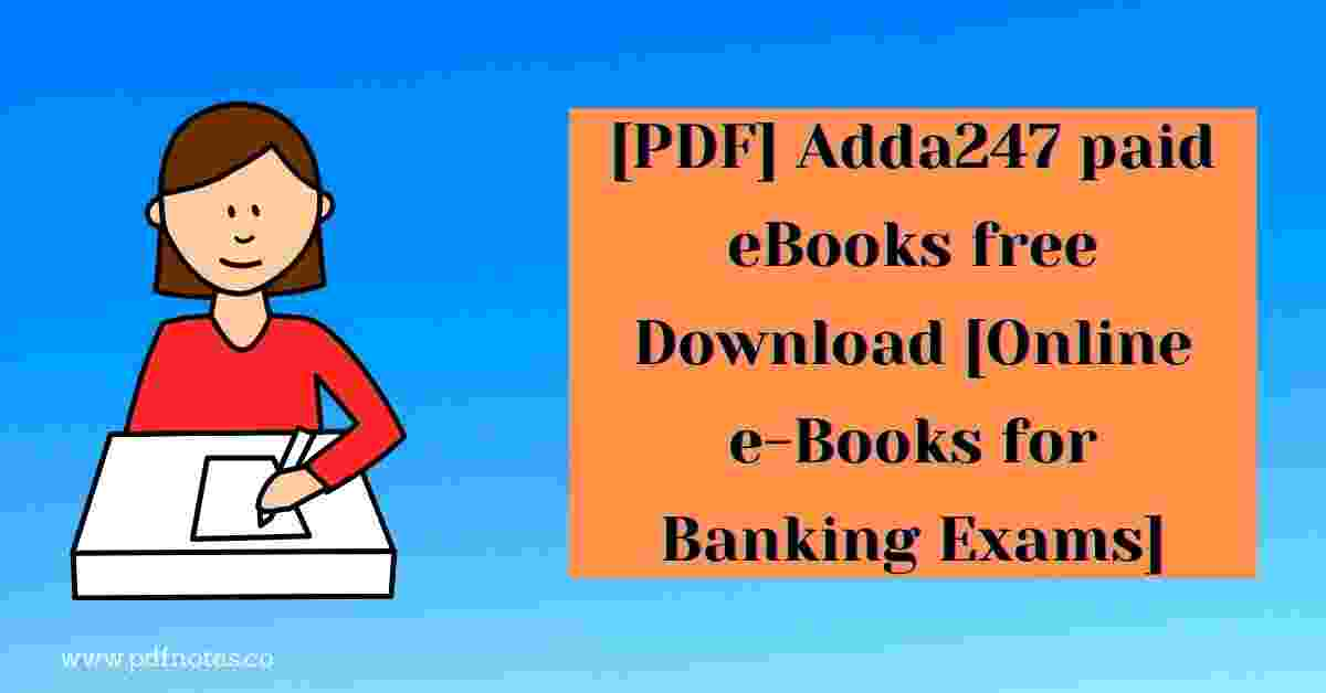 [PDF] Adda247 paid eBooks free Download [Online e-Books for Banking Exams]