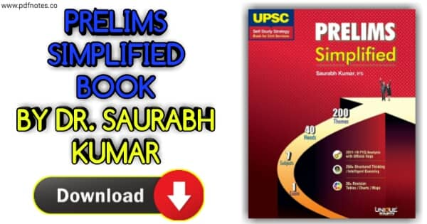 Download Unique UPSC Prelims Simplified Book PDF by IFS Saurabh Kumar Self Study Strategy book for Civil Services Prelims