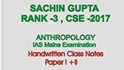 Sachin Gupta Anthropology Notes