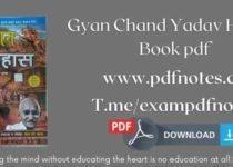 Gyan Chand Yadav History Book pdf