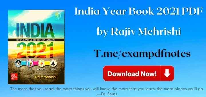 You are currently viewing India Year Book 2021 PDF for UPSC by Rajiv Mehrishi Download
