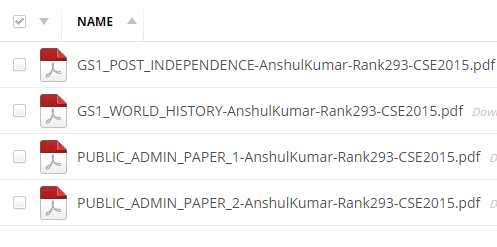 Topper Notes: GS & Public Administration Handwritten Notes by Anshul Kumar Rank 293