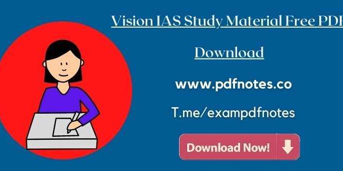 [2021 Edition] Disaster Management Vision IAS Notes PDF Download