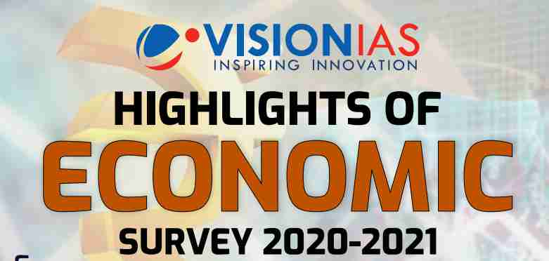 Highlights of Economic Survey 2020-2021 PDF by Vision IAS