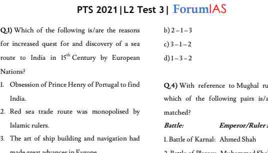 You are currently viewing [English] Forum IAS Prelims 2021 Test 10 PDF