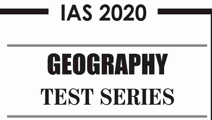GS Score Geography Test 1 2021 PDF