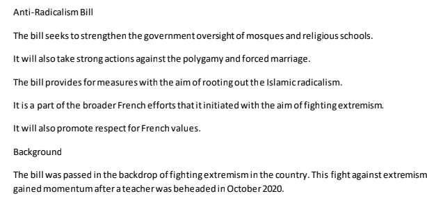 You are currently viewing [PDF] France Anti Radicalism Bill pdf Download