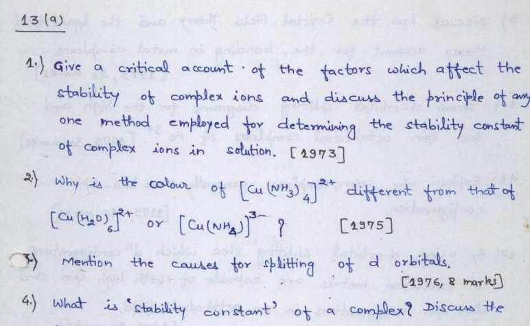 You are currently viewing [Download] UPSC Chemistry Optional Notes PDF 2021