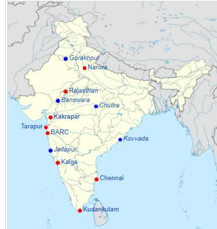 You are currently viewing List of nuclear power Plants in India PDF