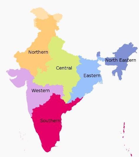 Zones and regions of India