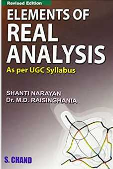 You are currently viewing Elements of Real Analysis by Shanti Narayan & M.D. Raisinghania PDF