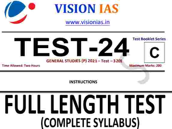 You are currently viewing [English] Vision IAS Prelims 2021 Test 24 Full Length PDF Download