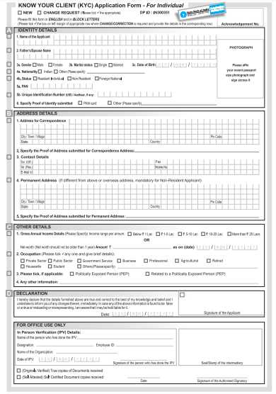 You are currently viewing SBI KYC Form PDF