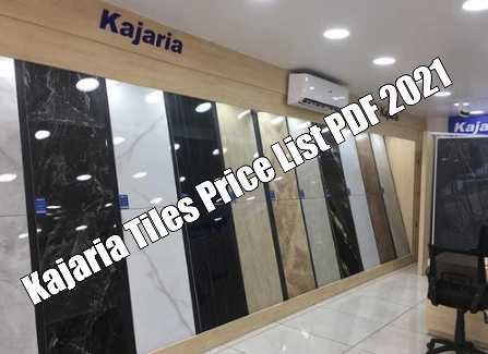 You are currently viewing Kajaria Tiles Price List 2021 PDF