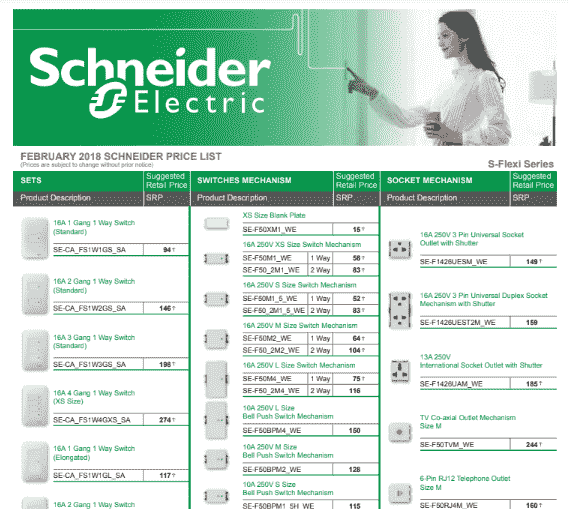You are currently viewing Schneider Switches Price List PDF