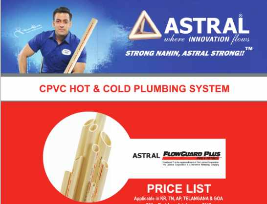 You are currently viewing Astral Pipes Price List 2021 | UPVC CPVC
