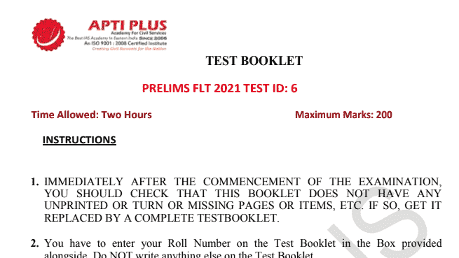 You are currently viewing Apti Plus Prelims 2021 Full Length Test Series [1-8] PDF