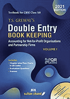 T.S. Grewal's Double Entry Book Keeping ( Vol. 1) Textbook for CBSE Class 12