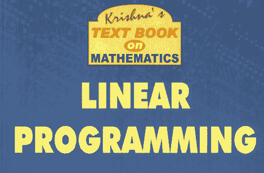 You are currently viewing Linear Programming by Krishna Series PDF