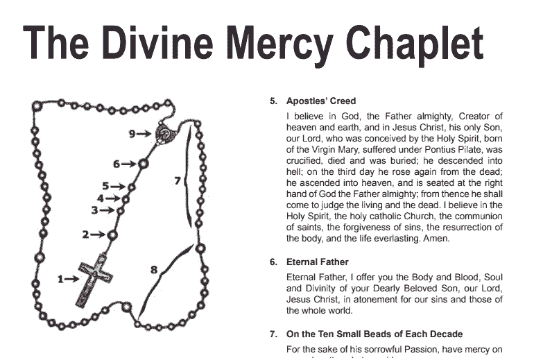 You are currently viewing Divine Mercy Prayer Chaplet PDF