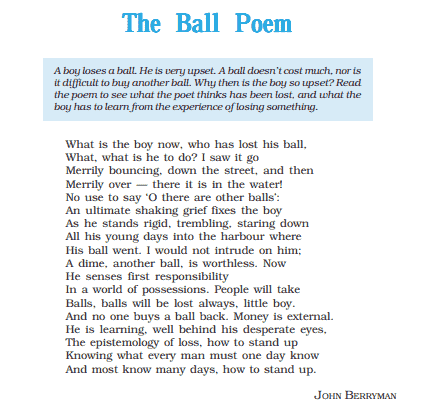You are currently viewing The Ball Poem PDF
