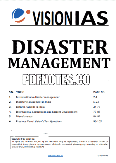 You are currently viewing Vision IAS Disaster Management Notes 2021