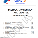 Read more about the article Vision IAS Ecology, Environment & Disaster Management Notes 2021