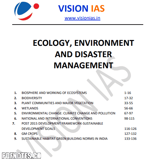 You are currently viewing Vision IAS Ecology, Environment & Disaster Management Notes 2021