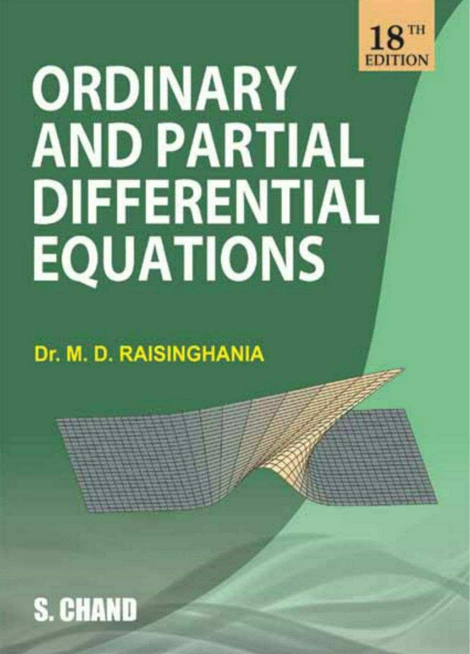 You are currently viewing Ordinary and Partial Differential Equations by Dr. M.D. Raisinghania