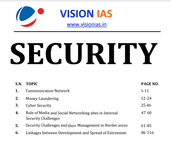 You are currently viewing Vision IAS Internal Security Notes 2021