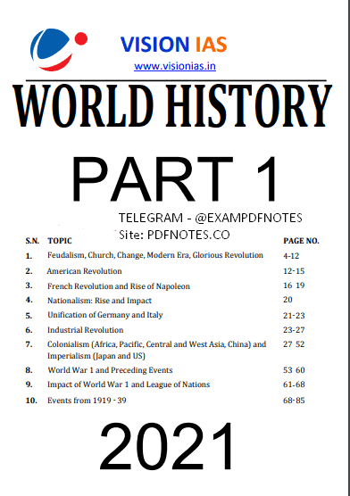 You are currently viewing Vision IAS World History Notes 2021