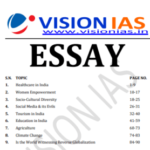 Read more about the article Vision IAS Essay Notes 2021