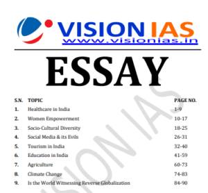 You are currently viewing Vision IAS Essay Notes 2021
