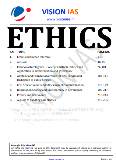 You are currently viewing Vision IAS Ethics Notes 2021