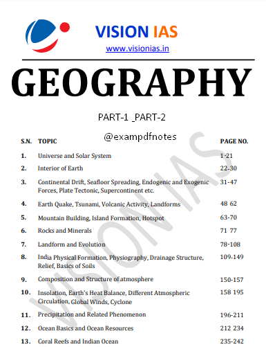 You are currently viewing Vision IAS Indian Geography Notes 2021