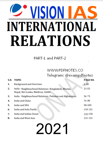 You are currently viewing Vision IAS International Relations Notes 2021