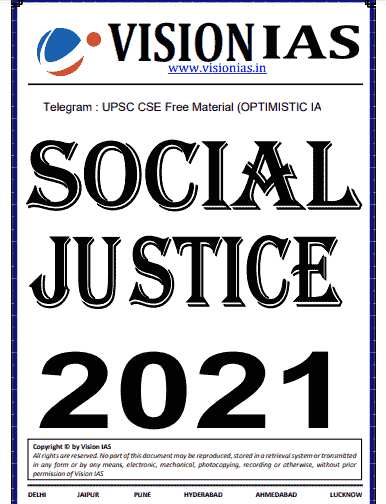You are currently viewing Vision IAS Social Justice Notes 2021