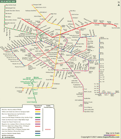 Read more about the article Delhi Metro Map PDF 2021