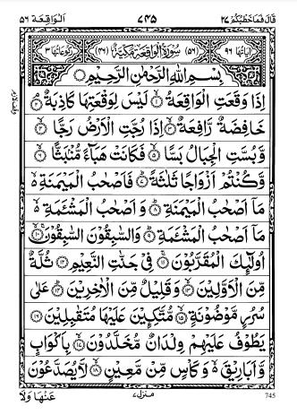 Read more about the article Surah Al Waqiah PDF